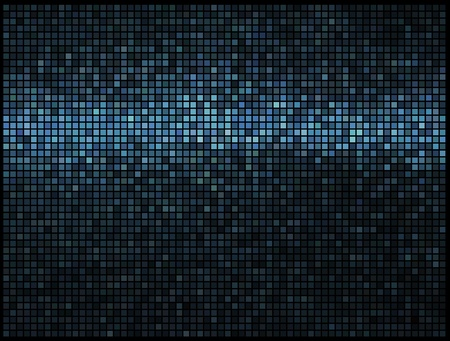entertainment: Multicolor abstract lights blue disco background. Square pixel mosaic vector