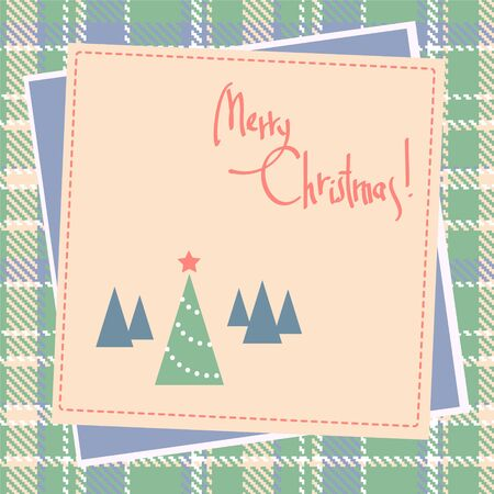 Christmas scrapbook design with tree Vector