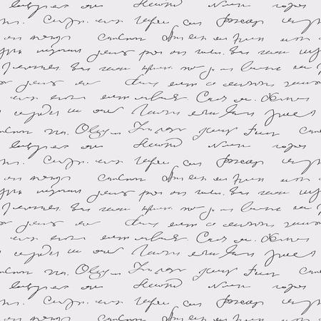 Seamless patrón abstracto texto escrito a mano