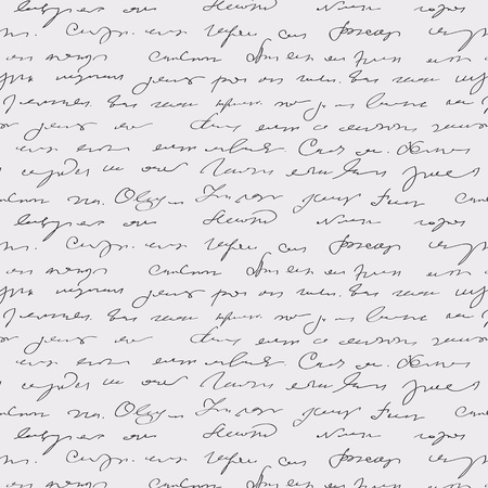 vellum: Seamless pattern astratto, testo scritto a mano