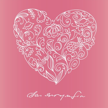 Floral heart Stock Vector - 11973300