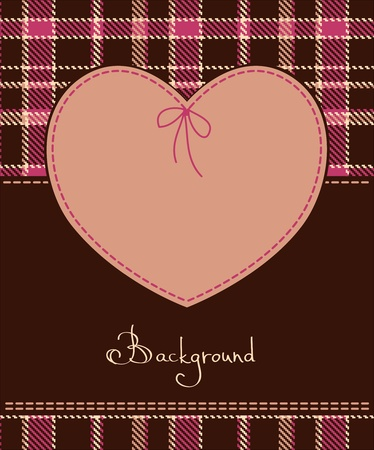 Valentine romantic red heart textile label  Vector