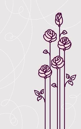 flower roses card wedding background Stock Vector - 12119172
