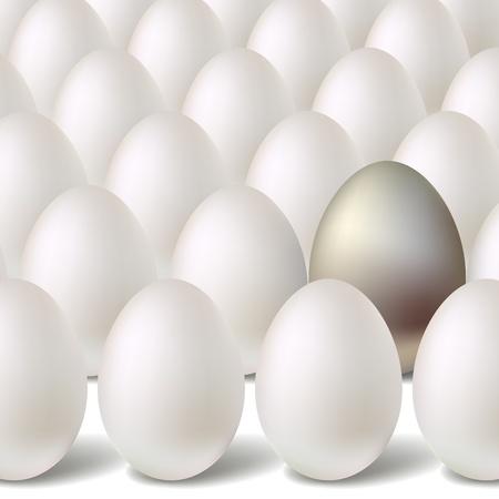 Silver vector egg concept Stock Vector - 12356780