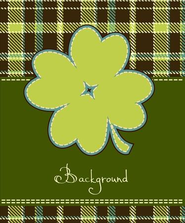 irland�s: Tr�bol de cuatro hojas etiqueta textil