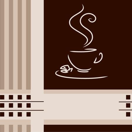 coffee cup on creative menu background