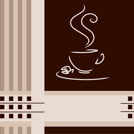 coffee cup on creative menu background  Vector