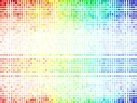 party club: Multicolor abstract  tile background  Square pixel mosaic vector  Illustration