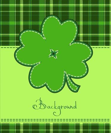 patric: Four leaf clover textile label
