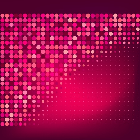 Abstract Red Dots Background  Illustration