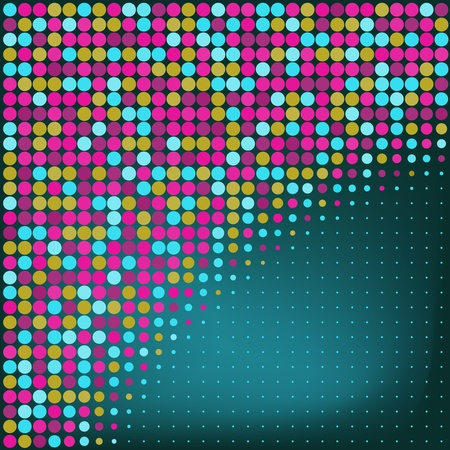 Abstract Blue Dots Vector Background  Vector