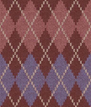 wool fiber: Estilo sin costura Rosa Marr�n Color Azul Patr�n de punto