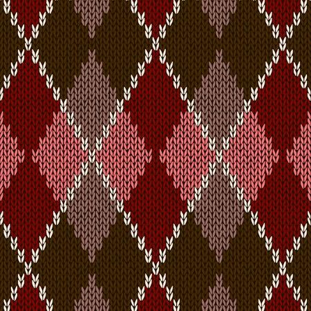tejidos de punto: Estilo sin costura Rosa Marr�n Color Rojo Patr�n de punto