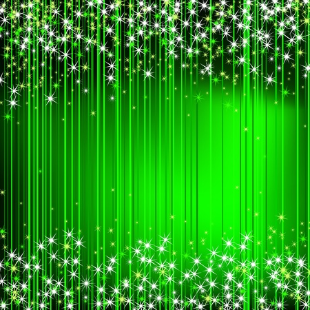 Green Abstract Background with stars  Stock Vector - 13094689