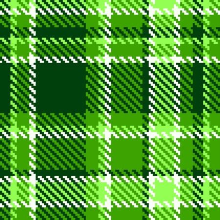 Seamless Checkered Green Color  Vector