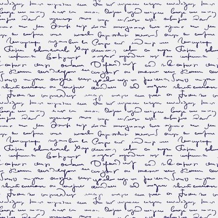 Seamless abstract handwritten text pattern