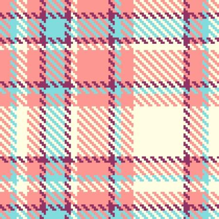 blue blanket: Seamless plaid fabric pattern background