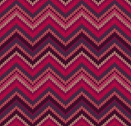 Red Pink Knit Texture , Beautiful Knitted Fabric Pattern Vector