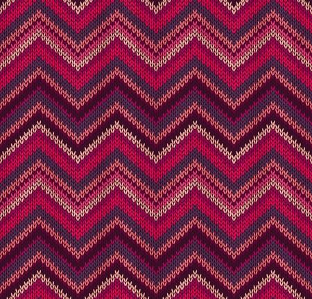 wool fiber: Rojo Rosa de punto de textura, Hermoso Patr�n Tejido de punto Vectores
