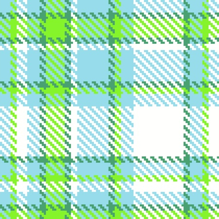 Seamless Checkered Green Blue Pattern  Vector