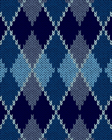 tejidos de punto: Estilo de color azul sin costuras, de adorno