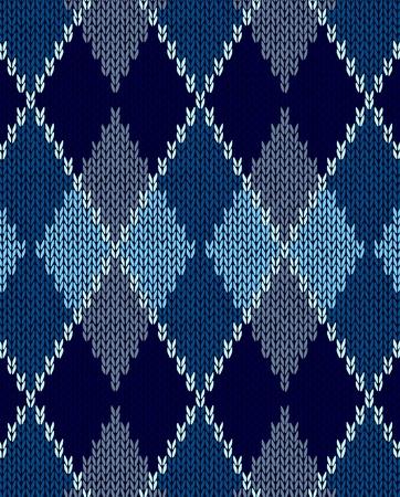 pullover: Stil Nahtlose Blau Farbe gestrickt Ornament