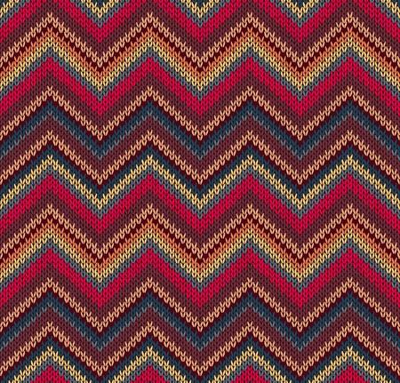 woolen fabric: Rojo Azul Amarillo de textura de punto, Hermoso Patr�n Tejido de punto