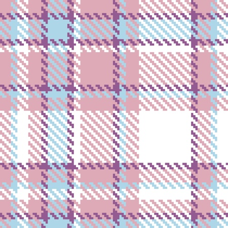 Seamless Plaid Fabric Pattern Background. Stock Vector - 13423507