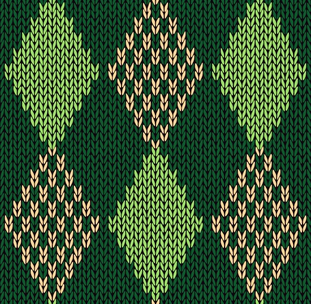 wool texture: Style Seamless Green Color Knitted  Illustration