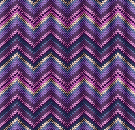 Pink Blue Violet Yellow Knit Texture, Beautiful Knitted Fabric Pattern Vector