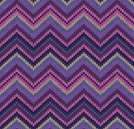 Roze Blauw Violet Geel Brei textuur, Mooie Gebreide Stof Patroon