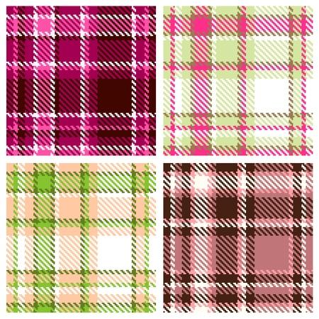 checkered pattern: Set of Seamless Checkered Pattern