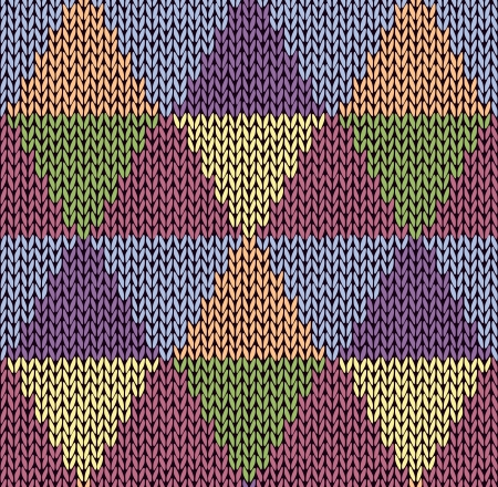 fancywork: Style Seamless Color Knitted Pattern