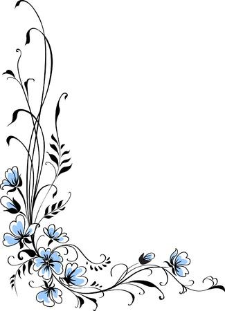 Floral background blue flower Stock Vector - 13879095