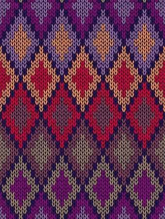 winter season: Style Seamless Color Knitted Ornament Pattern