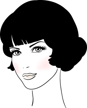Beautiful Cute Girl Face Vector illustration  Stock Vector - 13908790