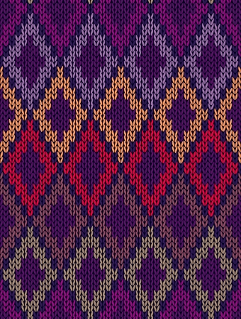 Style Seamless Color Knitted Ornament Pattern Vector