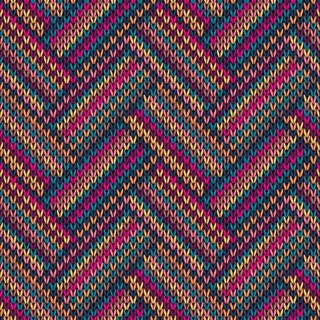 Veelkleurige Naadloze grappige gebreide patroon