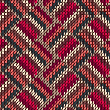 Style Seamless Red Blue Green White Pink Color Knitted Pattern from my large Collection of Samples of knitted Fabrics Vector