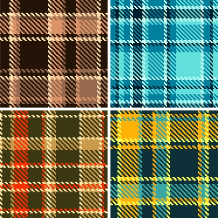 tartan: Seamless Checkered  Pattern Set of my Large Collection Illustration