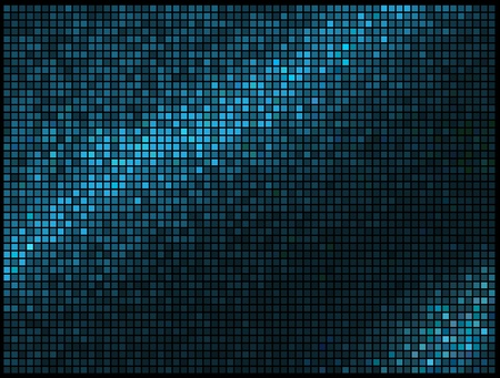 Abstract Lights Blue Multicolor Disco Background. Square Pixel Mosaic Stock Vector - 14269359