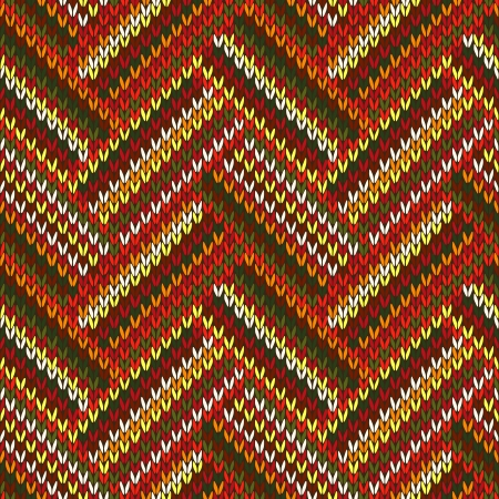 Style Seamless Red Orange Green White Brown Color Knitted Pattern from my large Collection of Samples of knitted Fabrics