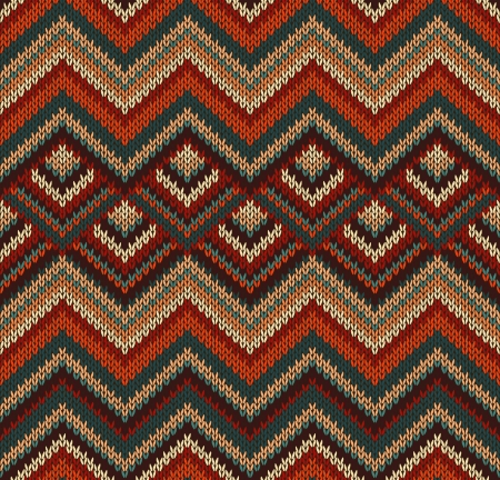 textura lana: Hermoso Tejidos patr�n, rojo, verde, de textura de punto de estilo vintage sin fisuras