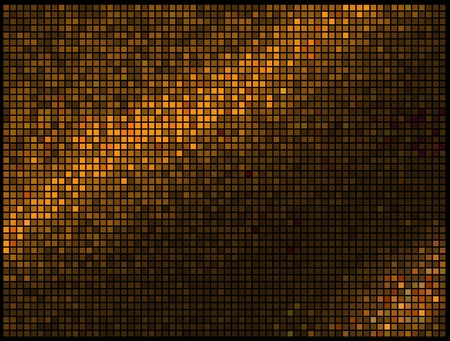 Abstract Lights Gold Multicolor Disco Background. Square Pixel Mosaic Vector  Vector