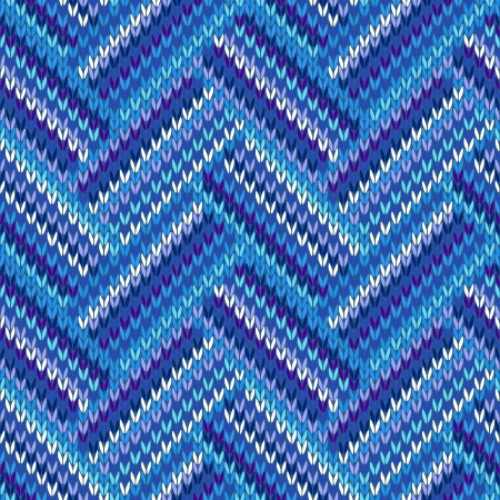 Style Seamless Blue Violet White Color Knitted Pattern from my large Collection of Samples of knitted Fabrics  Vector