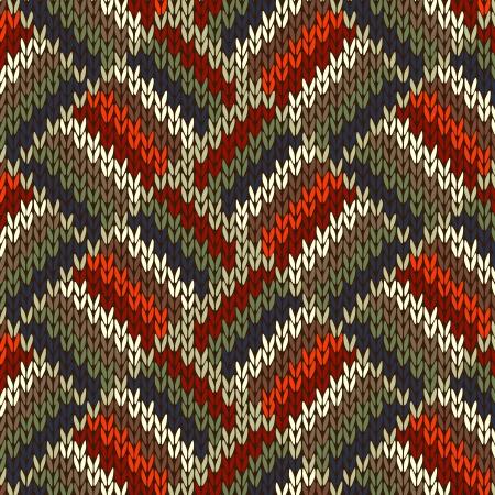 tejido de lana: Estilo de trama sin costuras. Rojo Azul Verde Blanco Naranja Color Ilustraci�n de mi gran colecci�n de muestras de tejidos de punto Vectores