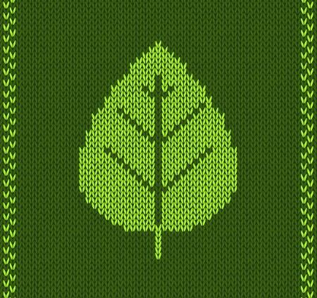 fancywork: Green Leaf Style Knitted Pattern Illustration