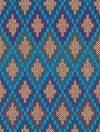 pullover: Stil nahtlos gestrickten Pattern.Blue Gr�n Orange Farbe Abbildung aus meiner gro�en Sammlung von Proben von Maschenware