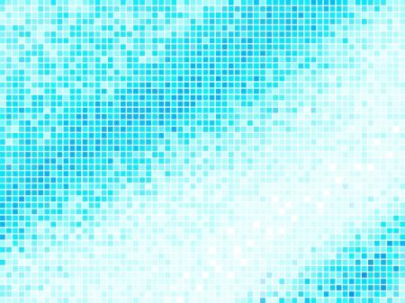 bathroom design: Multicolor Abstract Light Blue Tile Background. Square Pixel Mosaic Vector Illustration