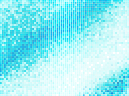 Multicolor Abstract Light Blue Tile Background. Square Pixel Mosaic Vector Illustration